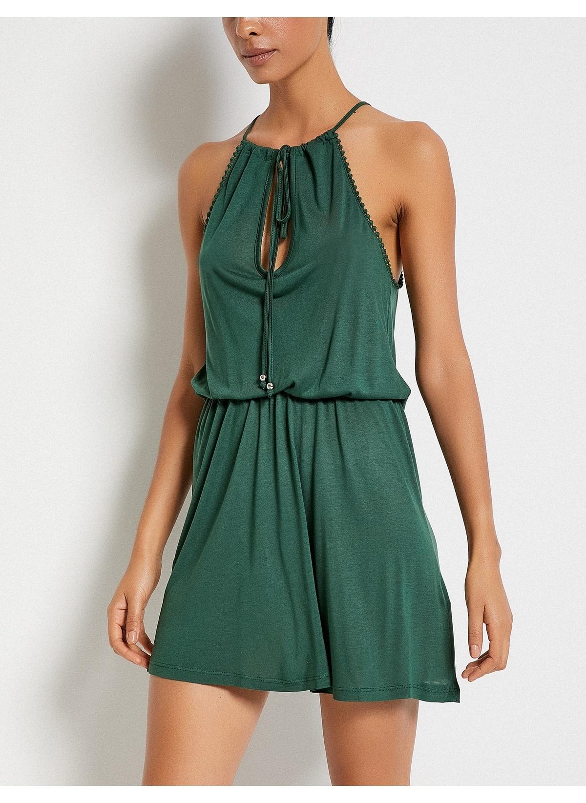 62d5641166061 Koton Kadın Yaka Detaylı Mini Elbise K.Hakı | Morhipo | 21610312